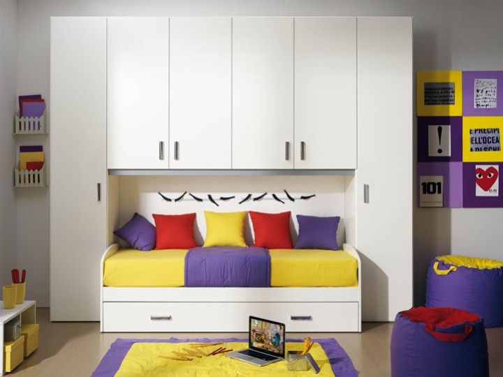 Cameretta per bambini bianca mobili on line camerette - Offerte camera da letto ...