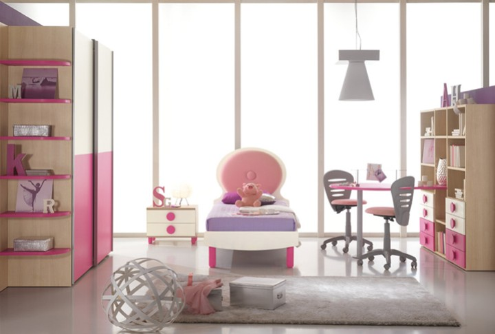 Cameretta per bambini coiffeuse mobili on line camerette - Disposizione mobili cameretta ...