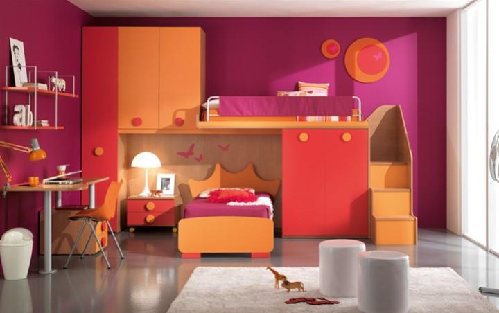 Cameretta per bambini corona mobili on line camerette per bambini camerette per ragazzi - Camerette colorate per bambini ...