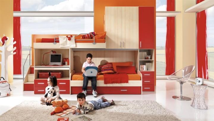 Cameretta per bambini focus mobili on line camerette per bambini camerette per ragazzi - Arredamento cameretta bambini ...