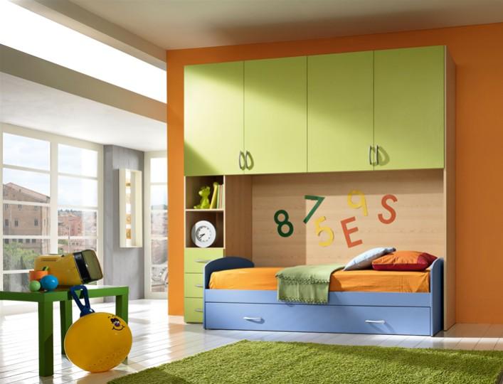 Cameretta per bambini kevin mobili on line camerette per for Arredamento per ragazzi