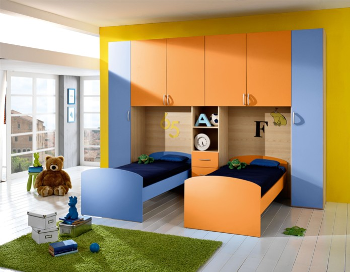 Cameretta per bambini morfeo mobili on line camerette - Camera per 2 ragazzi ...