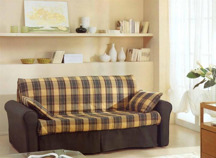 Divano pronto letto with divani in legno country - Divano letto country ...