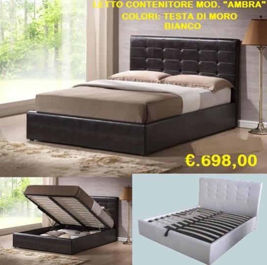 Letto 2 piazze contenitore ecopelle mobili on line for Arredamento casa biz