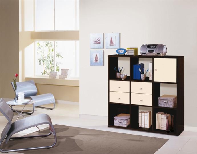 Librerie mobili on line libreria acquamarina di le for Libreria a muro bianca