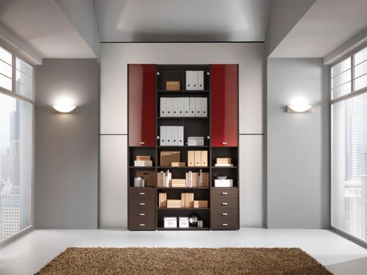 Libreria a Muro con scaffali e Cassetti. Mobili on line, camerette per ...