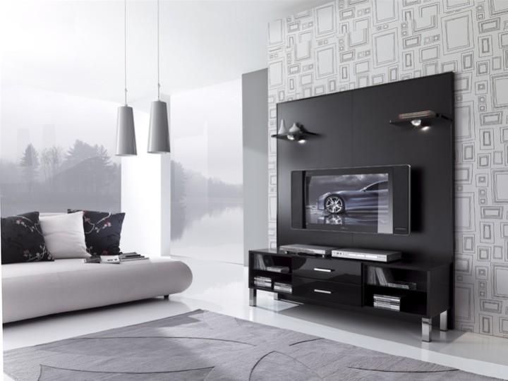 Porta tv laccato con 2 faretti inclusi mobili on line for Outlet mobili design on line