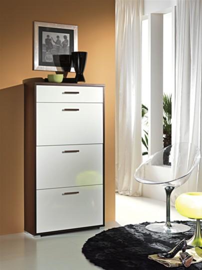 Scarpiera laccata bianca mobili on line camerette per for Arredamento casa biz