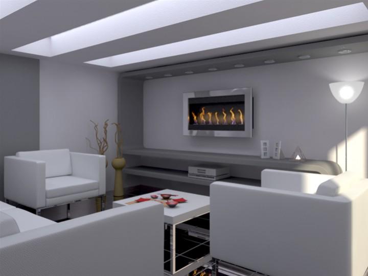 Biocaminetto oxy 107 con sportelli cristallo mobili on for Arredamento casa biz